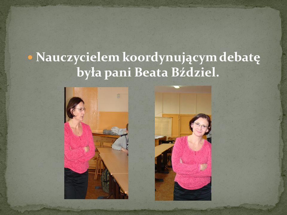 Pani dyrektor Katarzyna Sołtysiak, Pani wicedyrektor Małgorzata Wróbel, Pan Krzysztof Czajka, Pani Jolanta Stamburska Pani Beata Bździel