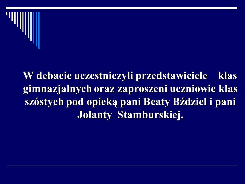 Honorowymi gośćmi byli: pani dyrektor Katarzyna Sołtysiak oraz pan Dariusz Judek.