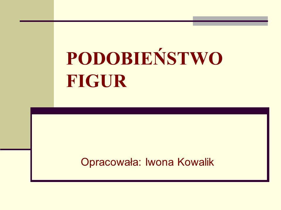 PODOBIEŃSTWO FIGUR Opracowała: Iwona Kowalik