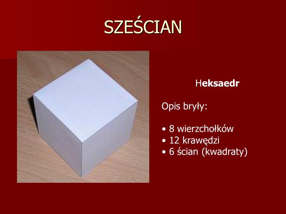 SZEŚCIAN- siatka Istnieje 11 siatek sześcianu: