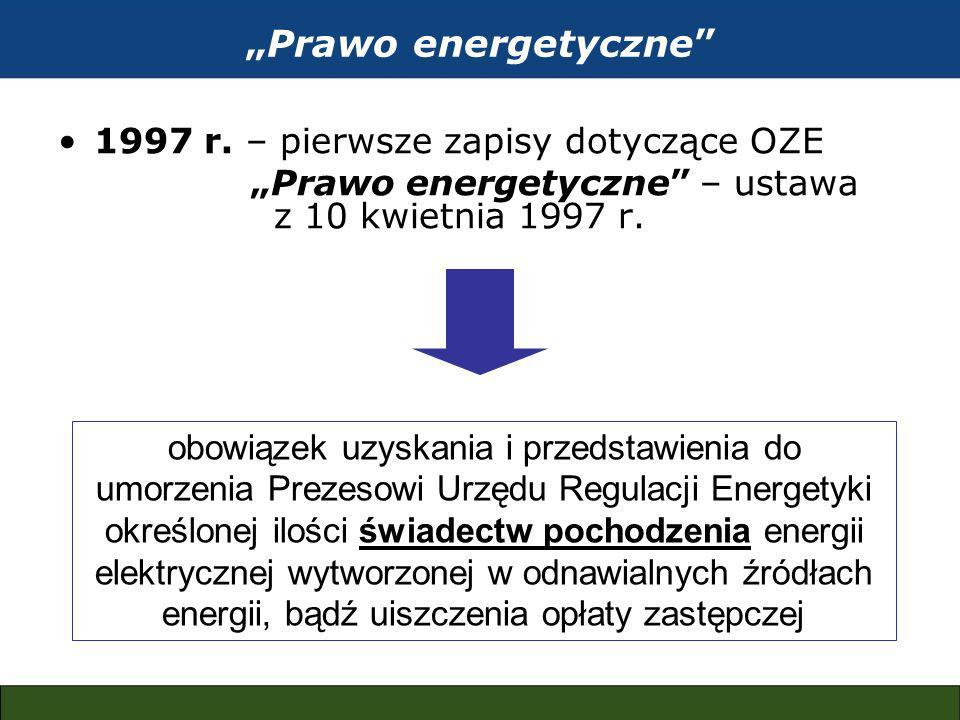 Prawo energetyczne 1997 r.