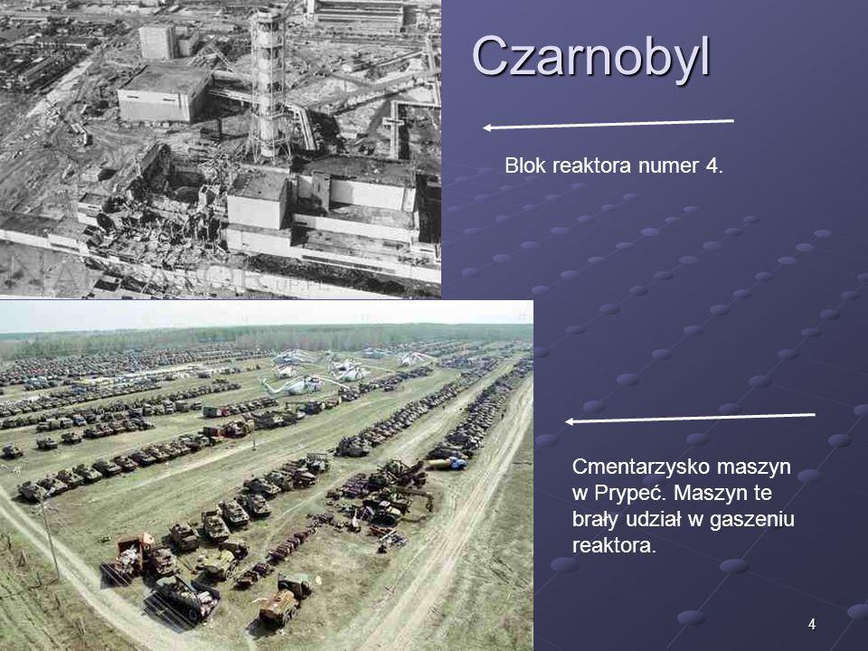 4Czarnobyl Cmentarzysko maszyn w Prypeć. Maszyn te brały udział w gaszeniu reaktora. Blok reaktora numer 4.