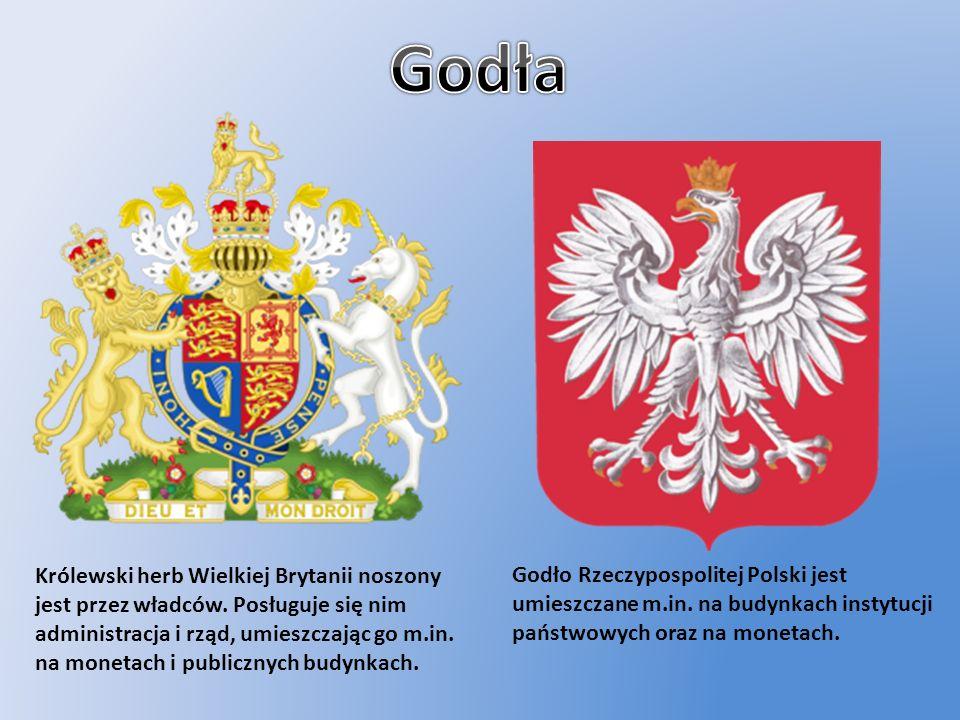 Królewski herb Wielkiej Brytanii noszony jest przez władców. Posługuje się nim administracja i rząd, umieszczając go m.in. na monetach i publicznych b