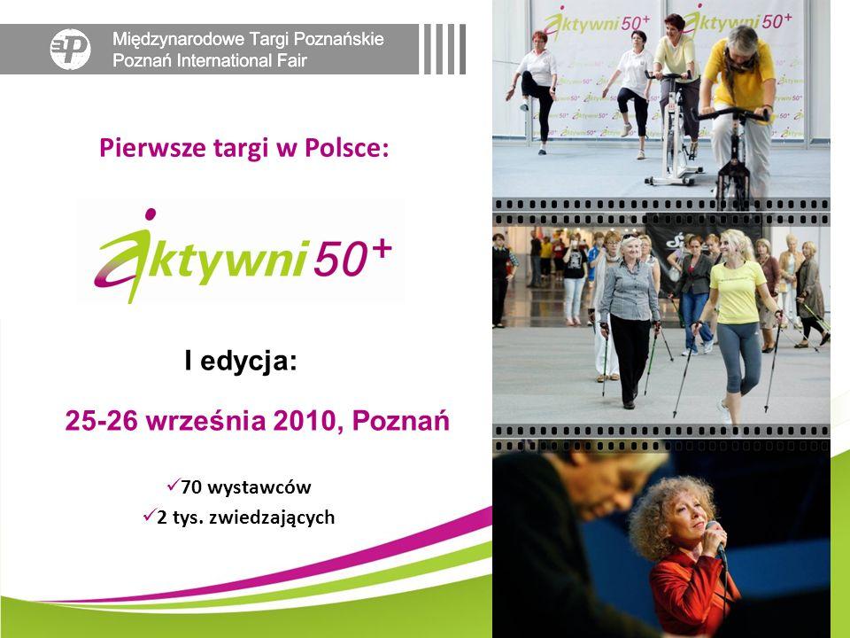 Pierwsze targi w Polsce: 70 wystawców 2 tys. zwiedzających 25-26 września 2010, Poznań I edycja:
