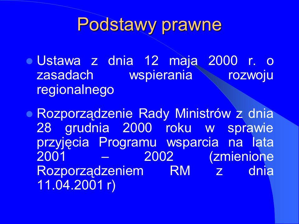 Podstawy prawne Ustawa z dnia 12 maja 2000 r.