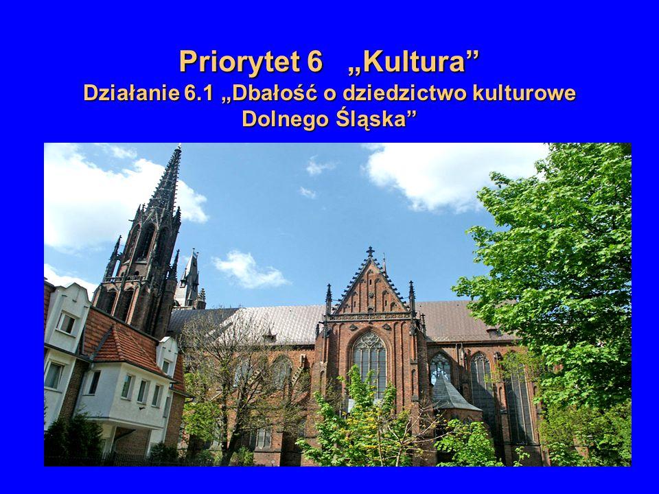 Priorytet 6 Kultura Działanie 6.1 Dbałość o dziedzictwo kulturowe Dolnego Śląska