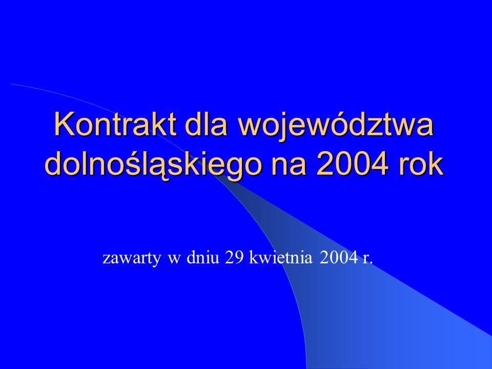 Kontrakt dla województwa dolnośląskiego na 2004 rok zawarty w dniu 29 kwietnia 2004 r.