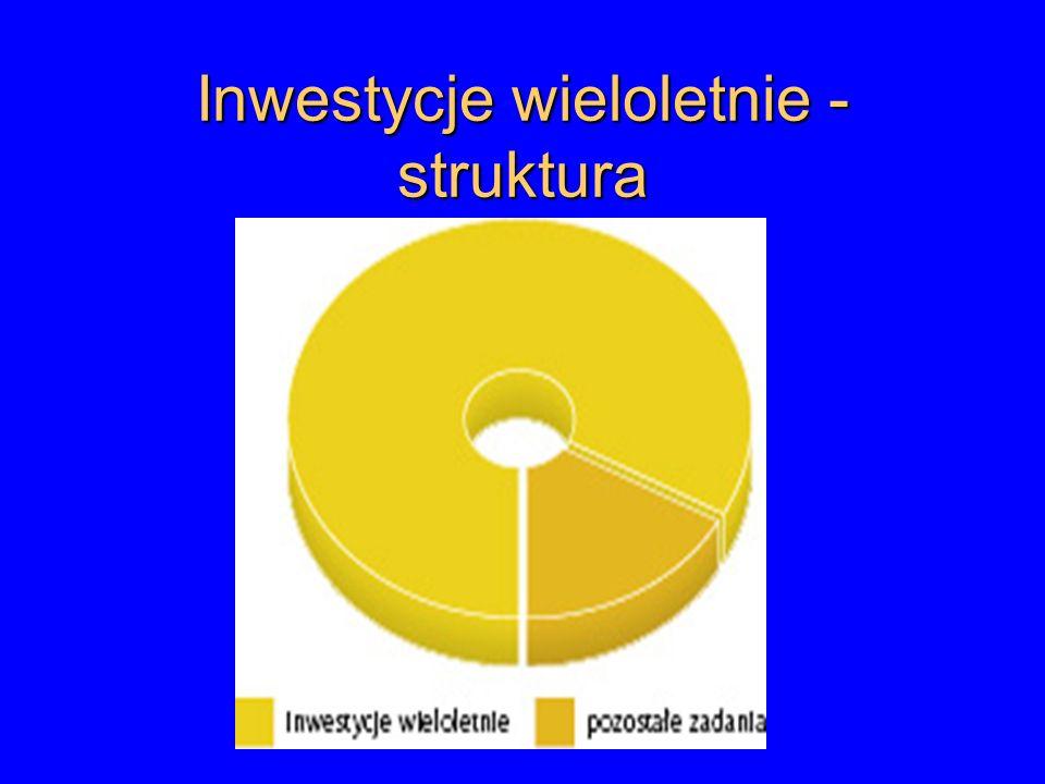 Inwestycje wieloletnie - struktura