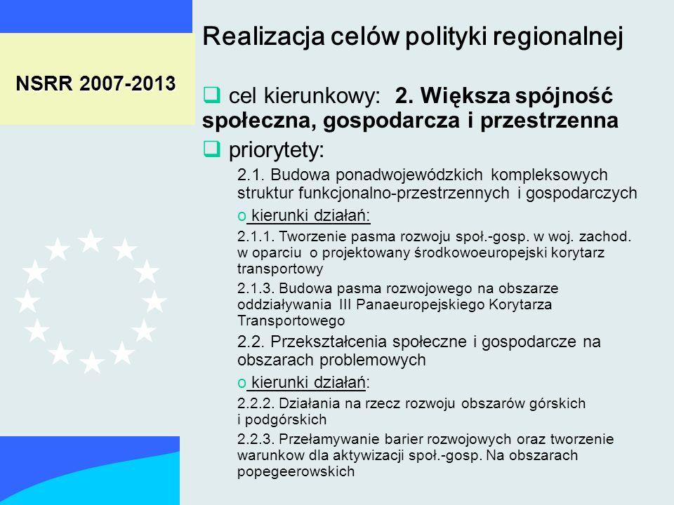 NSRR 2007-2013 cel kierunkowy: 2.