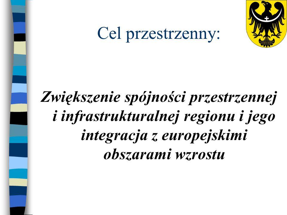 Cel przestrzenny: Zwiększenie spójności przestrzennej i infrastrukturalnej regionu i jego integracja z europejskimi obszarami wzrostu