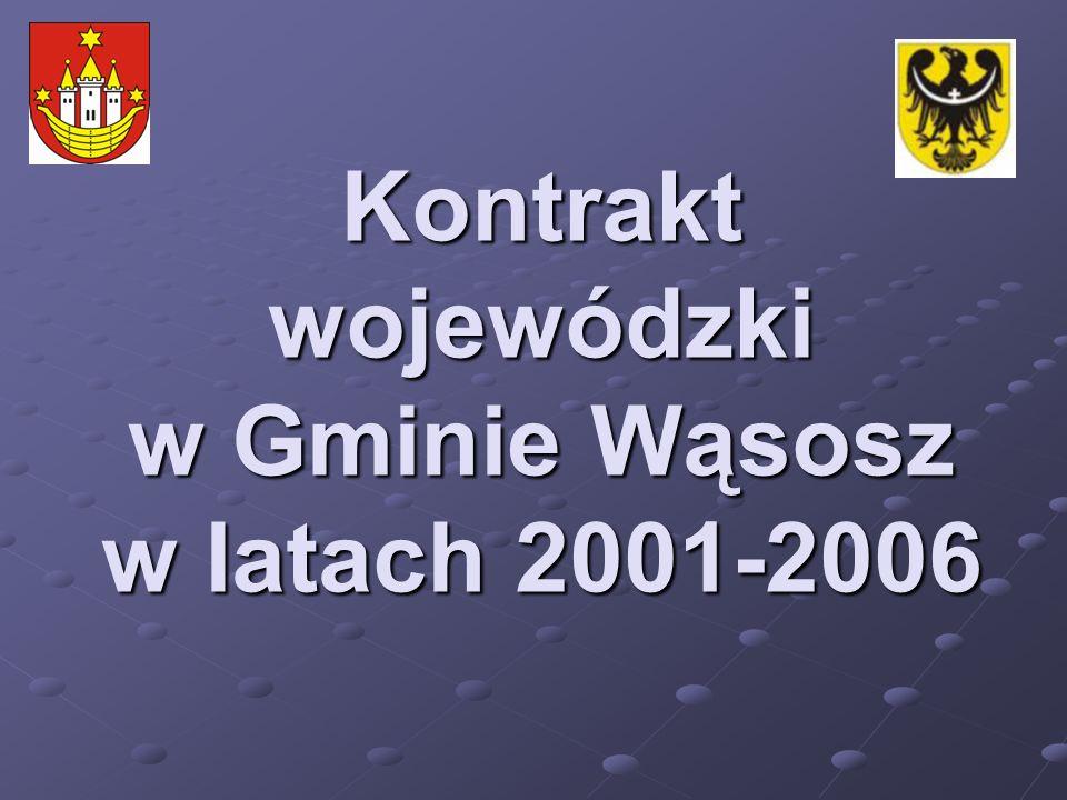 Kontrakt wojewódzki w Gminie Wąsosz w latach 2001-2006