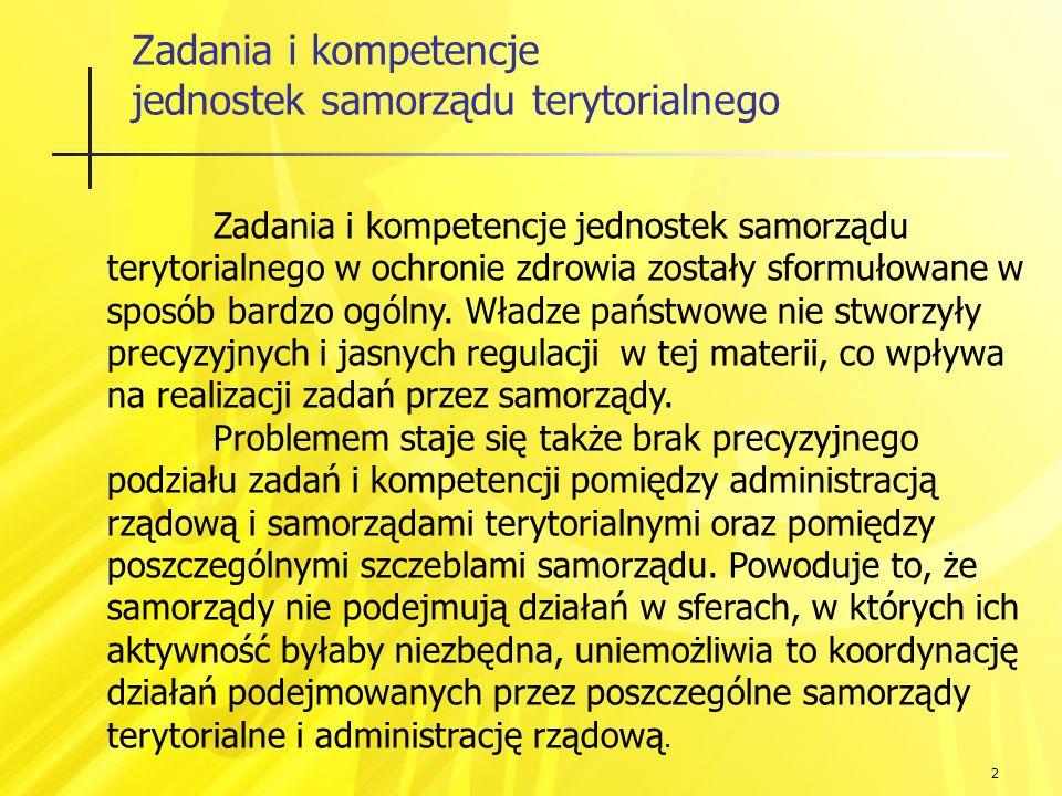 13 Lecznictwo szpitalne w powiatach Ludność: Powiat Górowski: 36 tys.