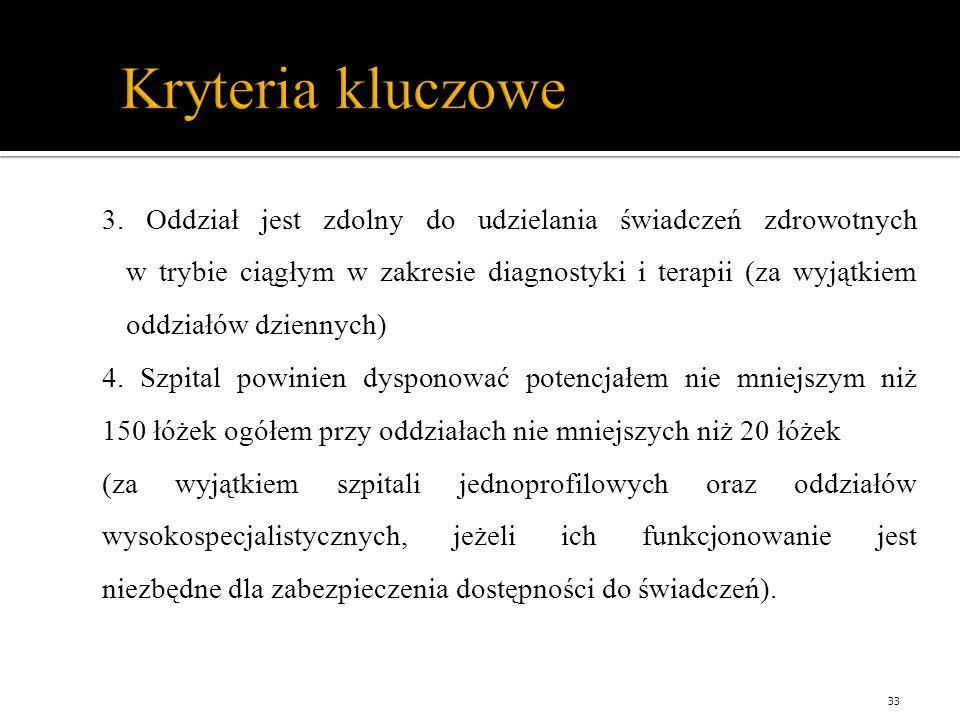Kryteria kluczowe 3.