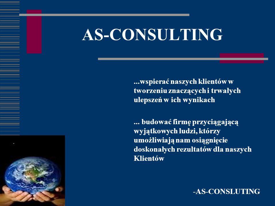 AS-CONSULTING...wspierać naszych klientów w tworzeniu znaczących i trwałych ulepszeń w ich wynikach...
