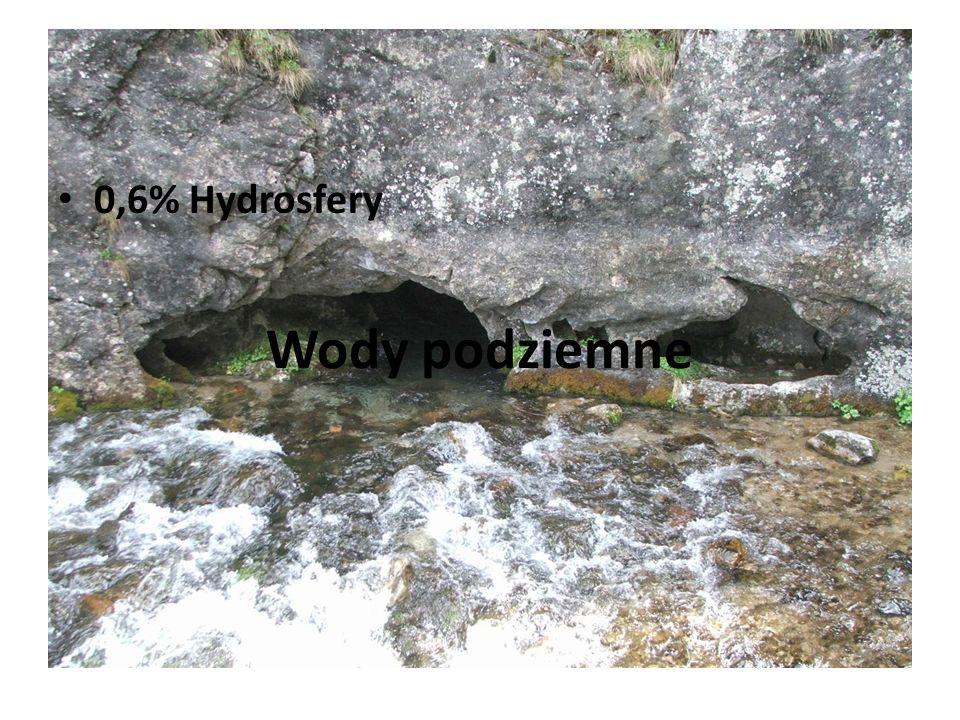 Lodowce 2,1% Hydrosfery