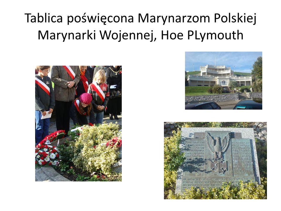 Tablica poświęcona Marynarzom Polskiej Marynarki Wojennej, Hoe PLymouth