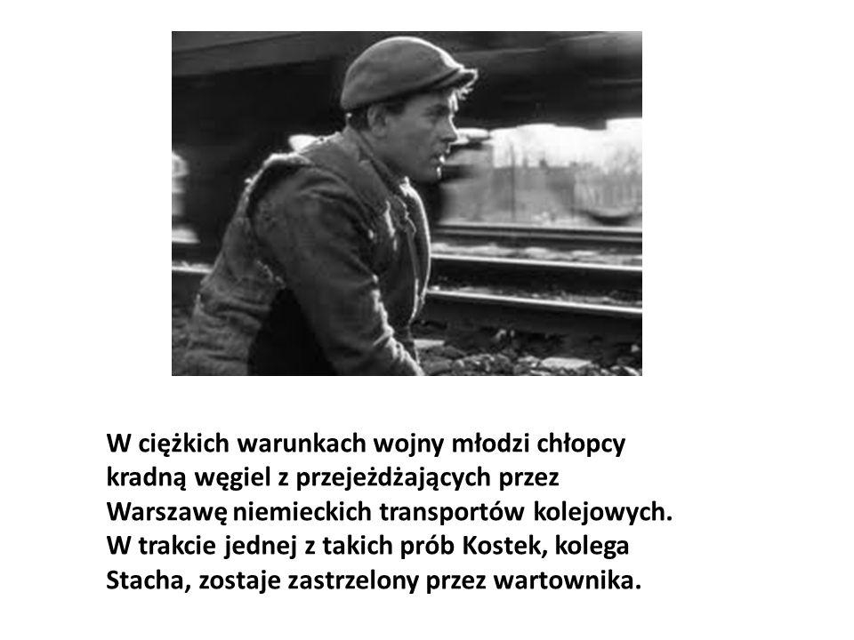 W ciężkich warunkach wojny młodzi chłopcy kradną węgiel z przejeżdżających przez Warszawę niemieckich transportów kolejowych. W trakcie jednej z takic