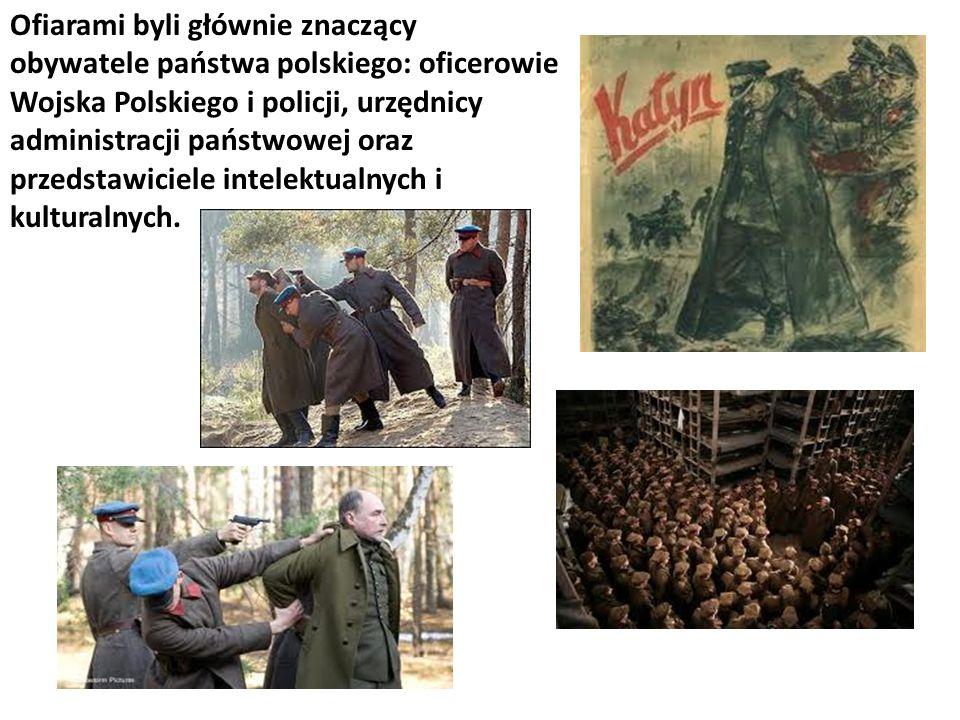 Ofiarami byli głównie znaczący obywatele państwa polskiego: oficerowie Wojska Polskiego i policji, urzędnicy administracji państwowej oraz przedstawic