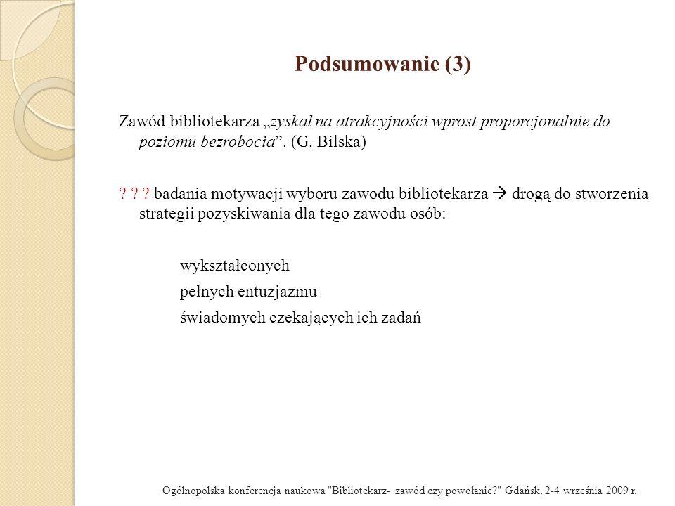 Podsumowanie (2) Zawód z przypadku.