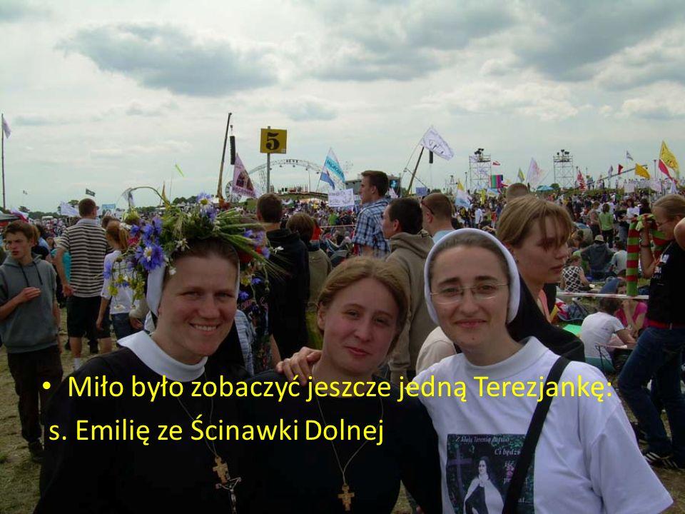 Miło było zobaczyć jeszcze jedną Terezjankę: s. Emilię ze Ścinawki Dolnej