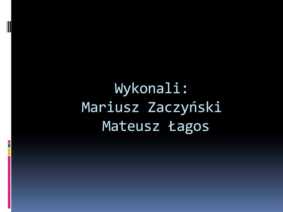 Wykonali: Mariusz Zaczyński Mateusz Łagos