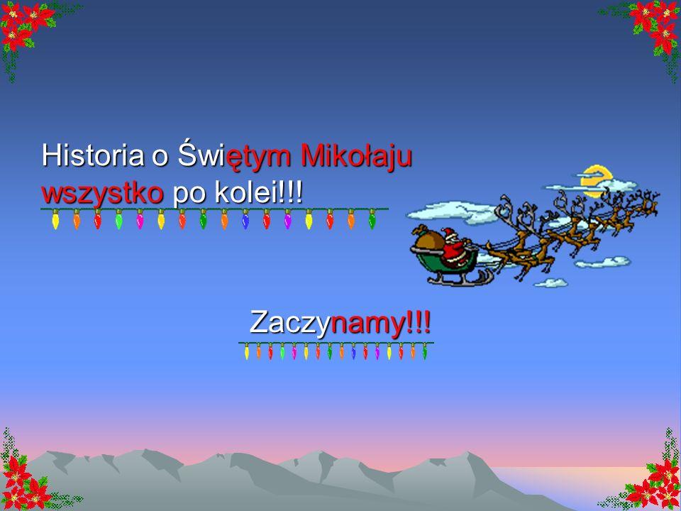 Wierszyk Haliny Szal 6 grudnia- jak dobrze wiecie, Święty Mikołaj chodzi po świecie, dźwiga swój worek niezmordowanie, i każde dziecko prezent dostanie.