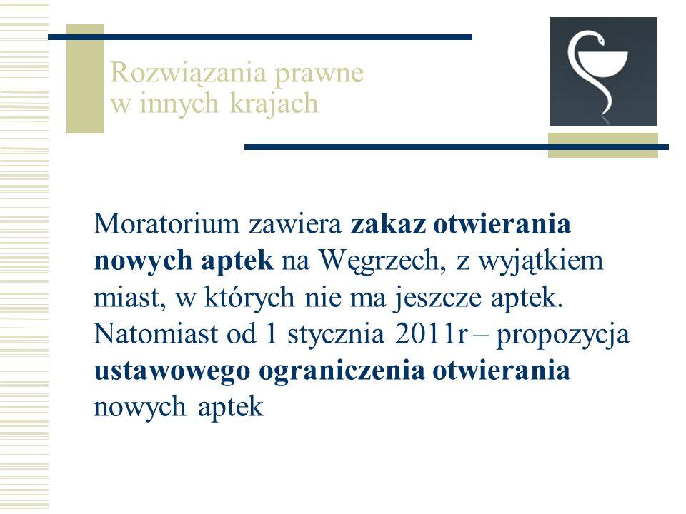 Moratorium zawiera zakaz otwierania nowych aptek na Węgrzech, z wyjątkiem miast, w których nie ma jeszcze aptek.