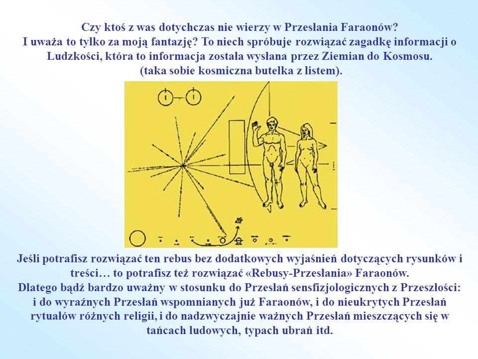 Czy ktoś z was dotychczas nie wierzy w Przesłania Faraonów? I uważa to tylko za moją fantazję? To niech spróbuje rozwiązać zagadkę informacji o Ludzko
