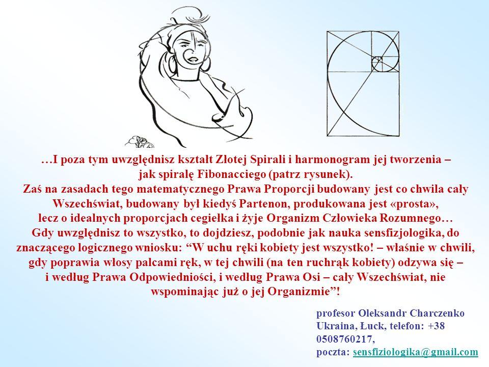 …I poza tym uwzględnisz kształt Złotej Spirali i harmonogram jej tworzenia – jak spiralę Fibonacciego (patrz rysunek). Zaś na zasadach tego matematycz