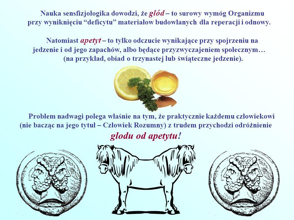 Ale, jak dowodzi nauka sensfizjologika, odróżnić glód od apetytu jest nadzwyczajnie łatwo.