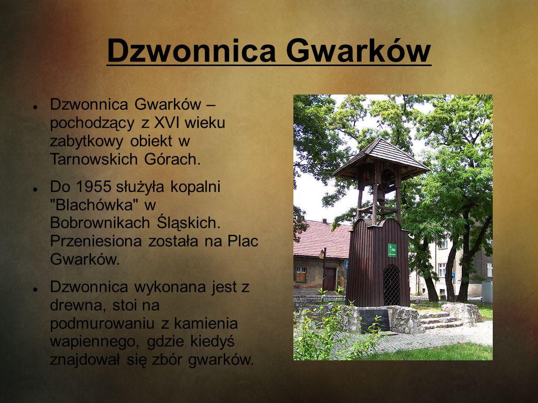 Dzwonnica Gwarków Dzwonnica Gwarków – pochodzący z XVI wieku zabytkowy obiekt w Tarnowskich Górach. Do 1955 służyła kopalni