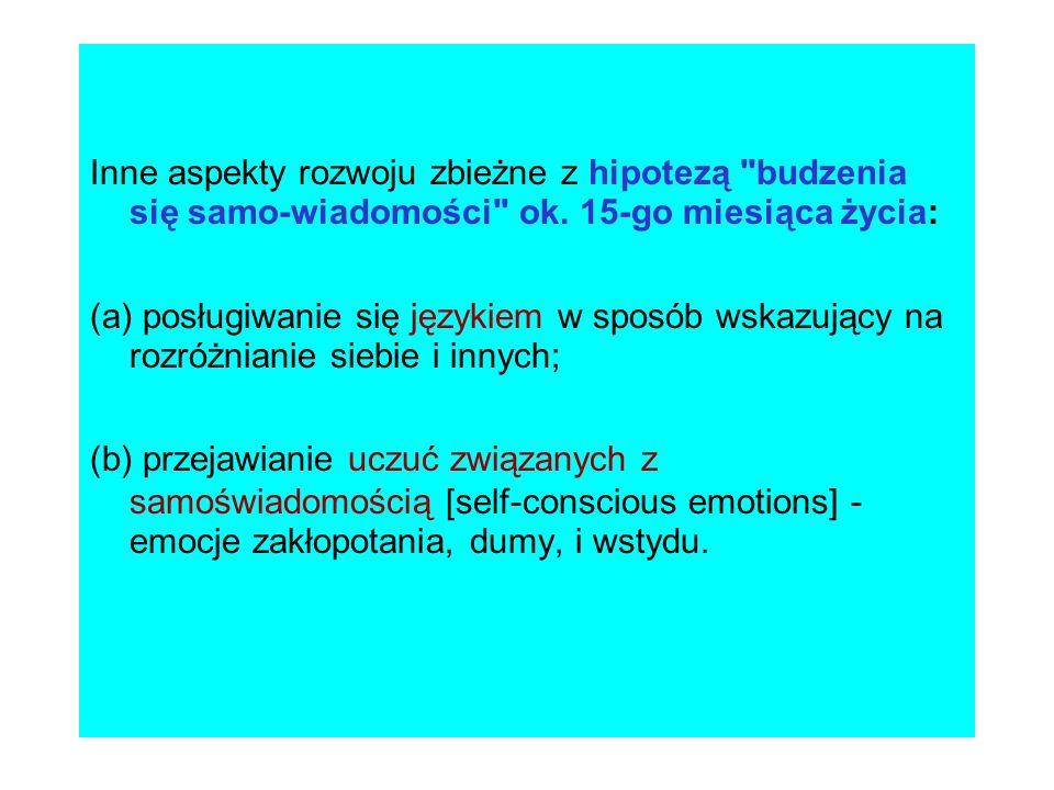 PROCESY, ODPOWIEDZIALNE ZA TWORZENIE I ROZWÓJ SAMOWIEDZY Podejście kulturowe - społeczne konstruowanie Ja .
