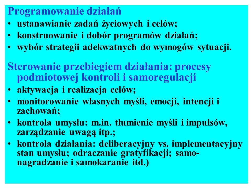 Dwa systemy regulacji psychicznej: system impulsywny vs.