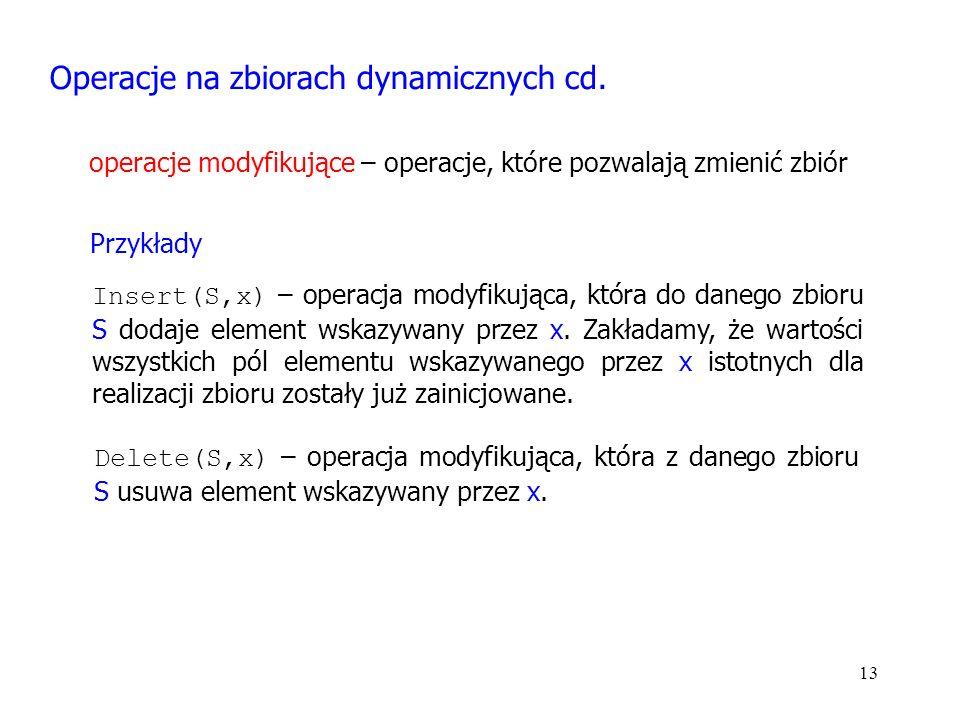 13 Operacje na zbiorach dynamicznych cd.