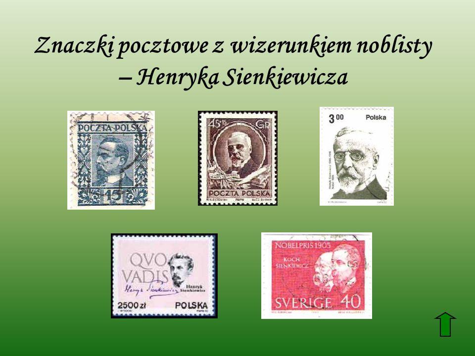 Znaczki pocztowe z wizerunkiem noblisty – Henryka Sienkiewicza