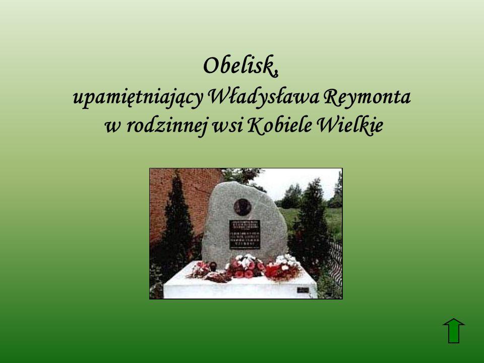 Obelisk, upamiętniający Władysława Reymonta w rodzinnej wsi Kobiele Wielkie