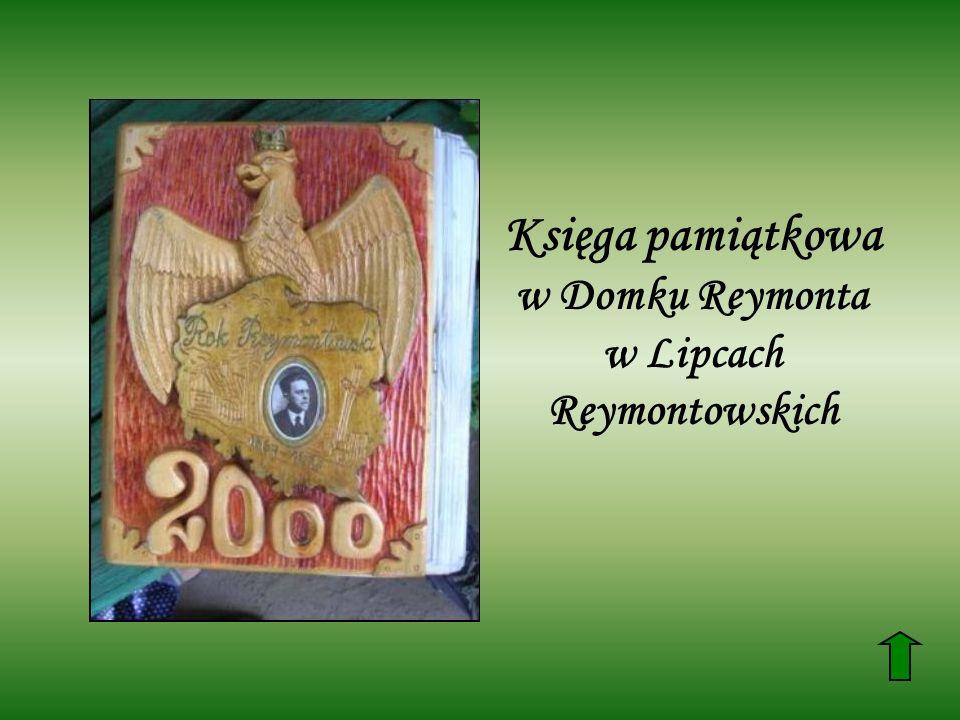 Księga pamiątkowa w Domku Reymonta w Lipcach Reymontowskich