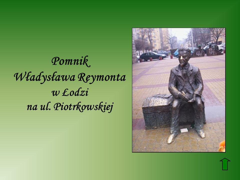 Pomnik Władysława Reymonta w Łodzi na ul. Piotrkowskiej