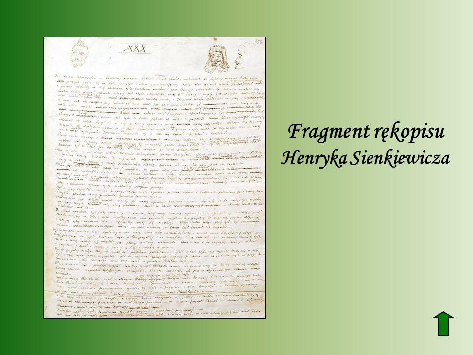 Fragment rękopisu Henryka Sienkiewicza