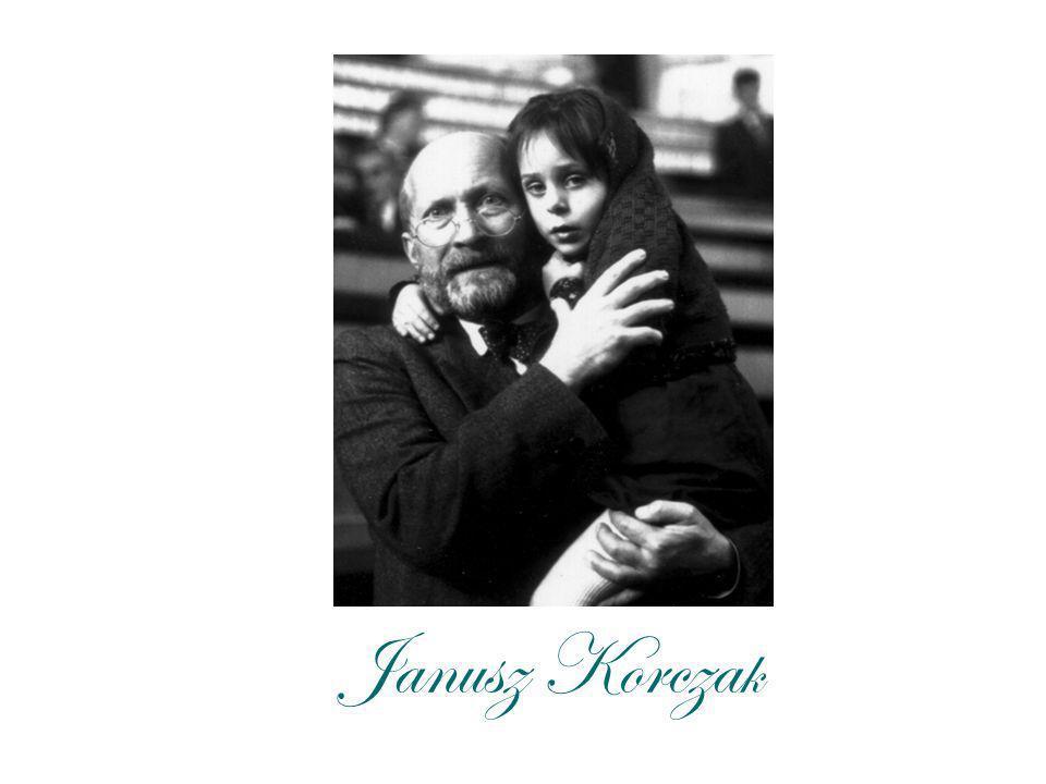 Biografia Janusz Korczak - właściwie Henryk Goldszmit urodził się 22 lipca 1678 roku w Warszawie zmarł około 6 sierpnia 1942 roku w komorze gazowej obozu zagłady w Treblince – polski pedagog, publicysta, pisarz, lekarz żydowskiego pochodzenia.