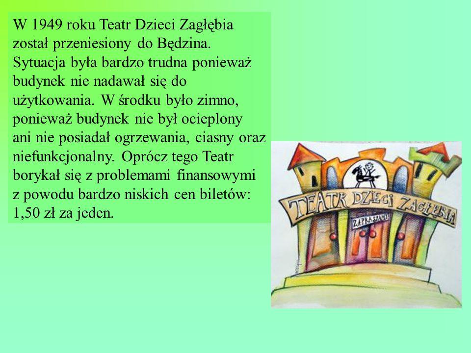 W 1949 roku Teatr Dzieci Zagłębia został przeniesiony do Będzina.