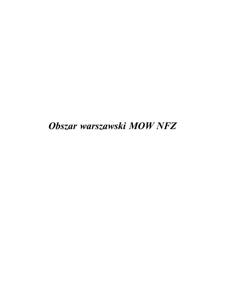 Obszar warszawski MOW NFZ