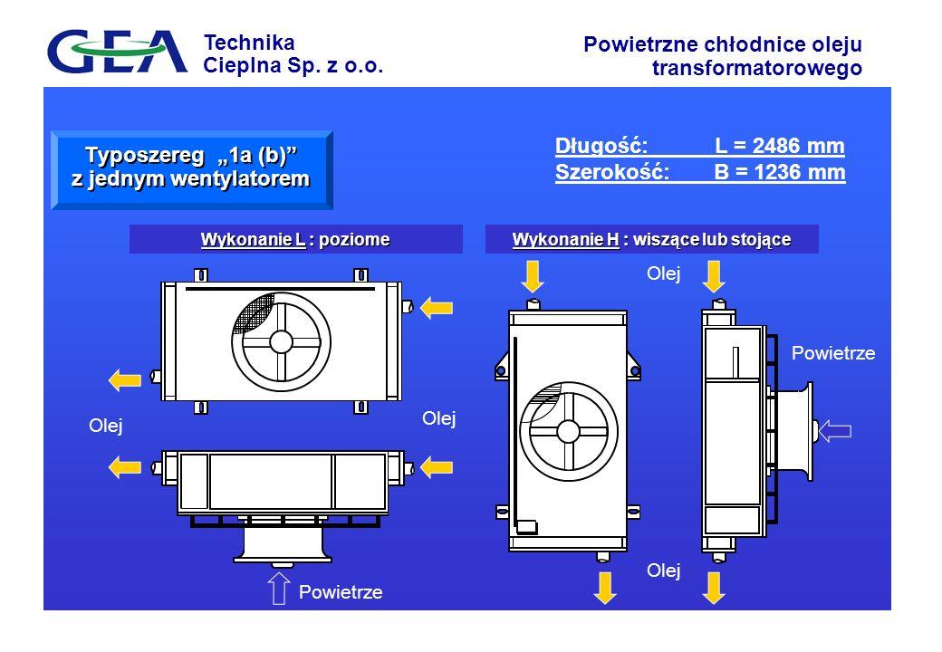 Technika Cieplna Sp. z o.o. Powietrzne chłodnice oleju transformatorowego Wykonanie H : wiszące lub stojące Wykonanie L : poziome Powietrze Olej Typos