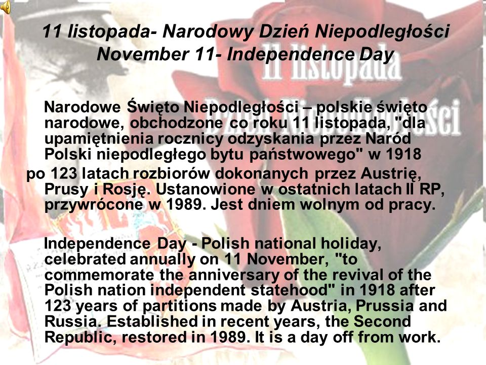 3 maja- Święto Konstytucji 3 maja May 3-May 3rd Constitution Day Święto Narodowe Trzeciego Maja – święto państwowe obchodzone 3 maja, w rocznicę uchwalenia Konstytucji 3 maja Rzeczypospolitej Obojga Narodów./ Constitution Day - the National holiday celebrated on 3 May, the anniversary of the Constitution of 3 May of Polish- Lithuanian Commonwealth.