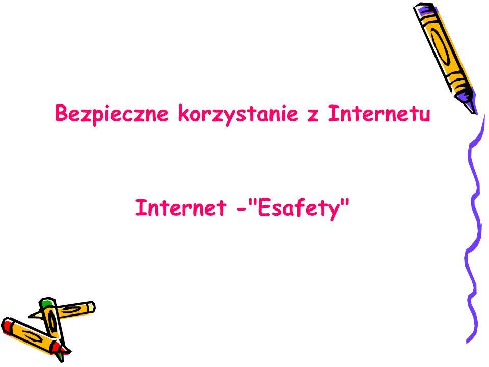 Bezpieczne korzystanie z Internetu Internet - Esafety