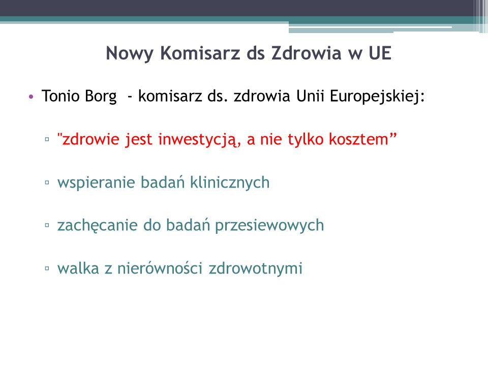 Nowy Komisarz ds Zdrowia w UE Tonio Borg - komisarz ds.