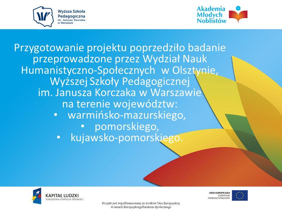 Przygotowanie projektu poprzedziło badanie przeprowadzone przez Wydział Nauk Humanistyczno-Społecznych w Olsztynie, Wyższej Szkoły Pedagogicznej im.