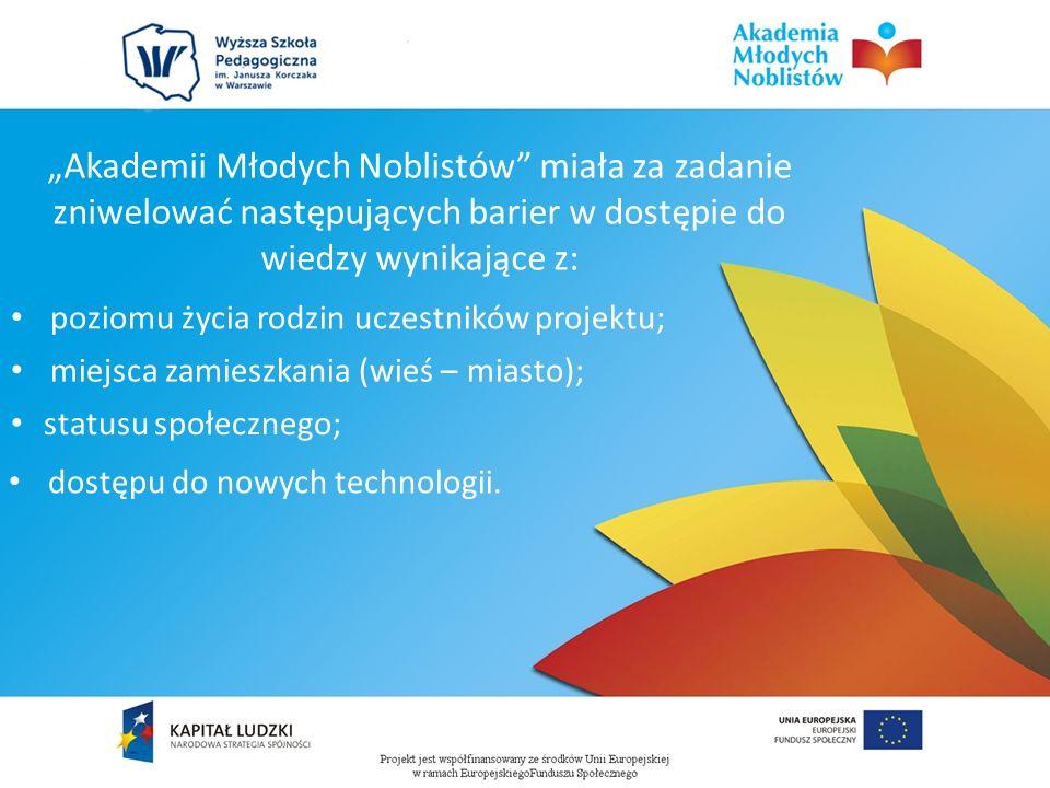 Głównym celem projektu było stworzenie warunków, w których uczniowie gimnazjum rozwiną kompetencje kluczowe, umożliwiające im odnalezienie się na rynku pracy oraz w codziennym życiu, ze szczególnym uwzględnieniem nauk matematyczno-przyrodniczych, technik informacyjno- komunikacyjnych (ICT), języków obcych na poziomie gimnazjalnym.