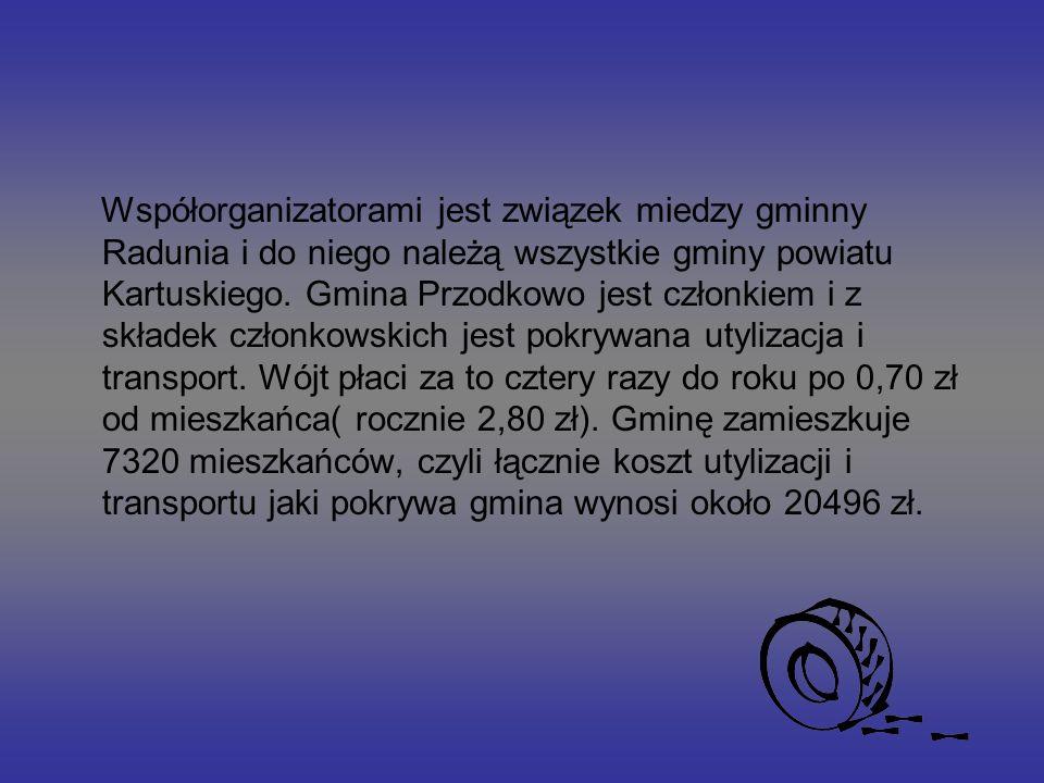 Współorganizatorami jest związek miedzy gminny Radunia i do niego należą wszystkie gminy powiatu Kartuskiego.