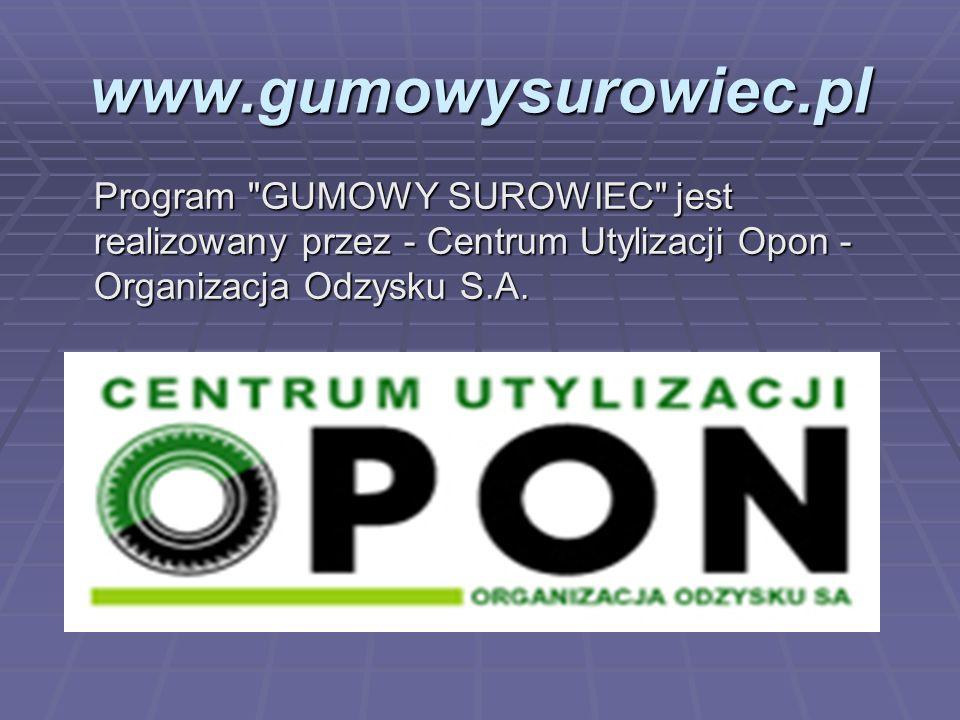 www.gumowysurowiec.pl Program